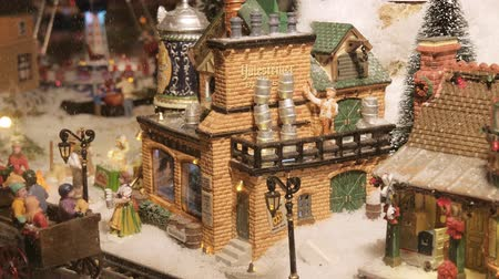 obec : Model Village. A Miniature Town During Christmas Holidays. Dostupné videozáznamy