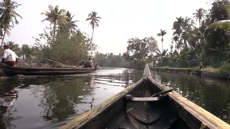 voluntário : The Kerala backwaters are a chain of brackish lagoons in southern India