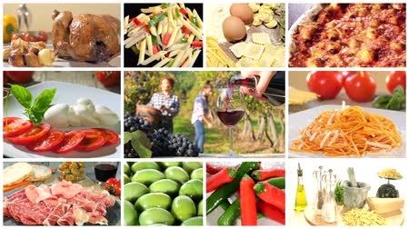 İtalyan : a montage including diverse italian food recipes
