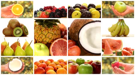 bakkal : close up of various fruits, montage
