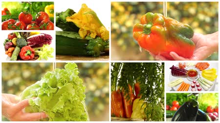 warzywa : delicious vegetables collage