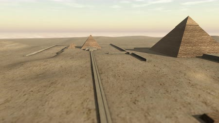 sete : Animation of the Giza platform Egypt in 3D