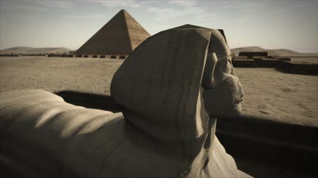 sete : Animated Sphinx at the Giza platform, Egypt 4K