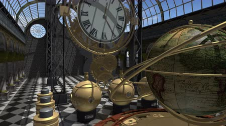 serseri : Time machine animated in Steampunk style 4K