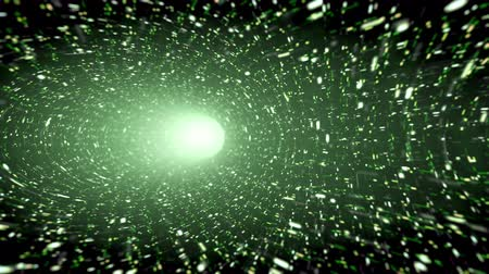 技术 : Animated wormhole, green. Loop-able 4K