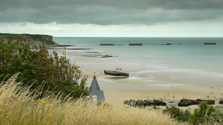d day : Memorial Overlord beach at Arromanches, France