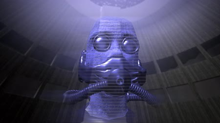 robot : Animation of a speaking holographic head