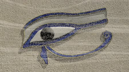 piramit : Eye of horus appears from sand carried on the wind