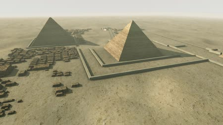 kahire : Rotating above a 3D animation of the platform Giza Egypt. Loop-able Stok Video