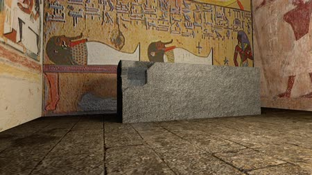 могила : A 3D animation of a tomb in ancient Egypt