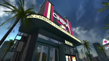 tiyatro : Animation of a cinema movie theater