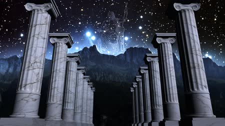 mitologia : Greek pillars in cosmic scene Vídeos