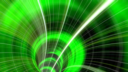 przyszłość : Animated wormhole through space, green