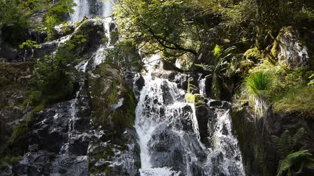 vosges : Cascade or waterfall with green rocks
