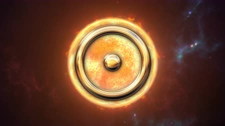 solar : Animated sun zodiac horoscope symbol and planet. 3D rendering 4K Stock Footage