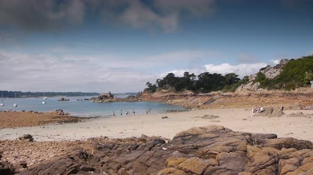 brittany : Ile de Brehat seaside. Brittany France Stock Footage