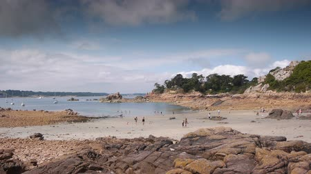 brittany : French island Ile de Brehat seaside PAN.