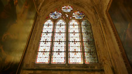 normandiya : Cathedral window at Lisieux, Normandy France, PAN