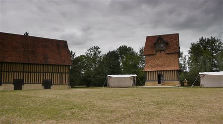 relics : Castle Crevecoeur and Auge dovecote in Normandy France