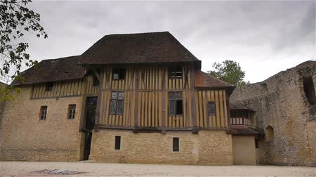relics : Exterior of castle Crevecoeur and Auge in Normandy France
