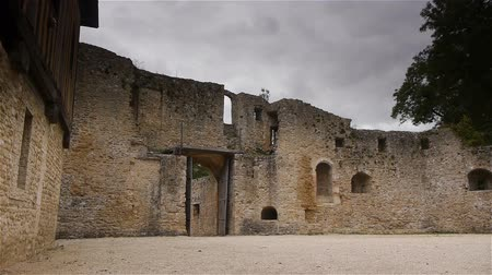 реликвия : Castle Crevecoeur and Auge exterior in Normandy France