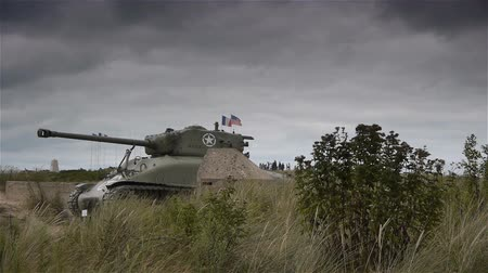 canon : Tank at Utah Beach D-day museum, Normandy France