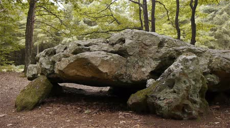 buried : Dolmen La Grosse Pierre, megalithic structure in Normandy, PAN