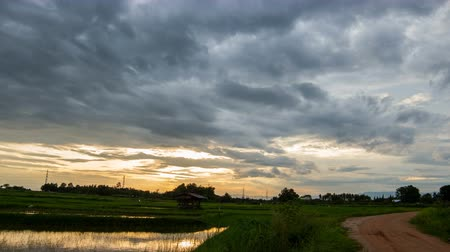 burza : Timelapse Storm Sky clouds with the rain