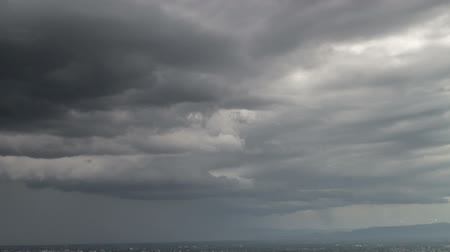 bulutluluk : Timelapse Storm clouds with the rain Stok Video