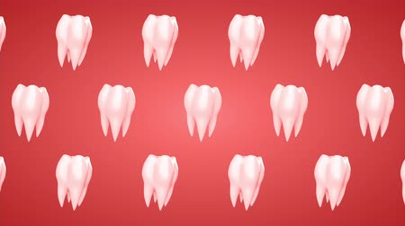 3d animated tooth rotation background. Loop, alpha channel.
