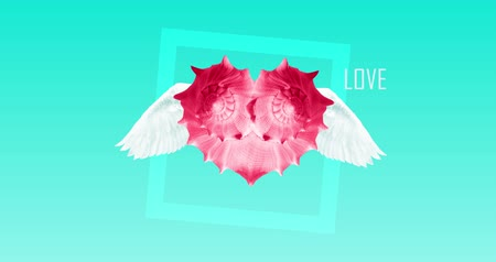gif : Minimal love art fashion composition.