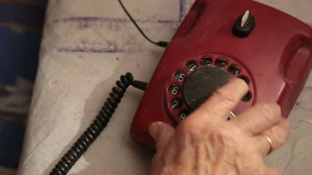 conventional : An Old Telephone With Rotary Dial