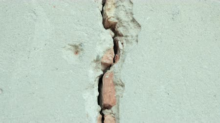 estuque : stripped the old grey wall plaster with holes, cracks, old castle
