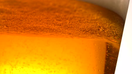 bira fabrikası : Beer Bubbles extreme close up