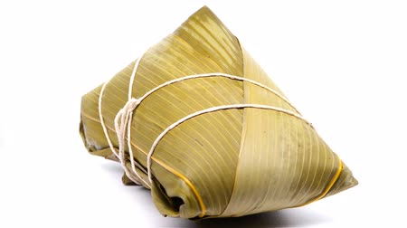 клецка : traditional Chinese ZongZi for dragon boat festival rotating and pause