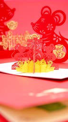firecrackers : different Chinese New Year 2020 symbol of the rats and kids Stock Footage