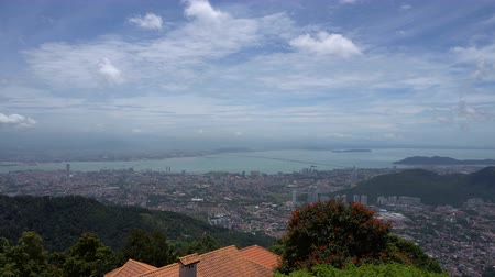 malásia : Panorama of Georgetown on Penang hill, Malaysia Vídeos