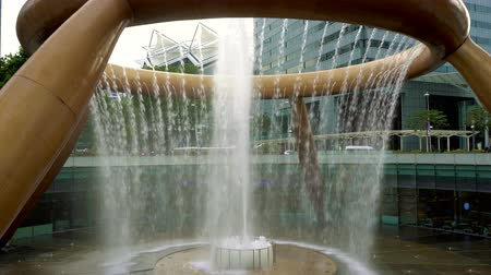 shui : Fountain of wealth in Singapore Stock Footage