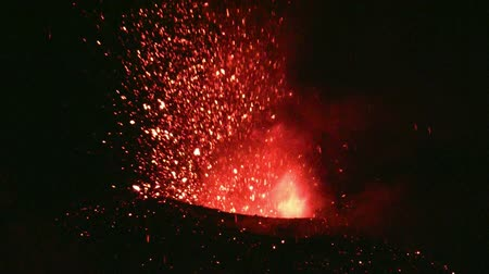 lave : Eruption of Volcano Etna, Italy