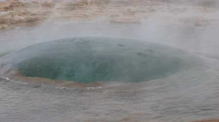 geyser iceland : Iceland, Eruption of Geysir Strokkur in slow motion