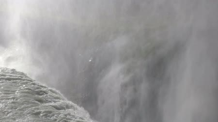 gullfoss : Spray and Power of Gullfoss Waterfall in Iceland