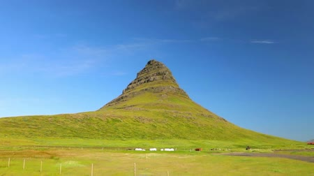volkanik : Beautiful scenic landscape of Icelandic nature. Slow Motion Footage.
