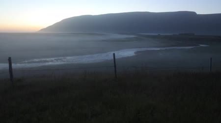 oxido : Scenic Icelandic morning landscape with mystical haze. Slow Motion Footage.