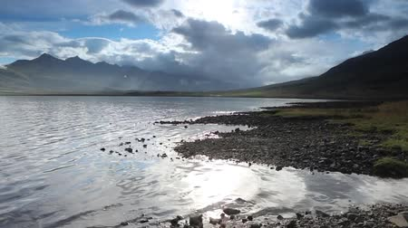 Beautiful scenic landscape of Icelandic nature. Slow Motion Footage.