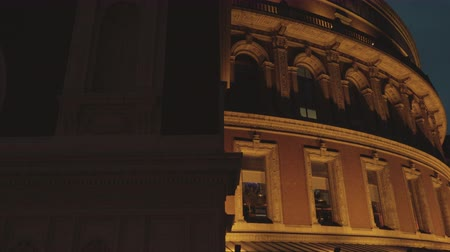 concert hall : A cinematic detailed approach to the Royal Albert Hall in London, UK during evening time