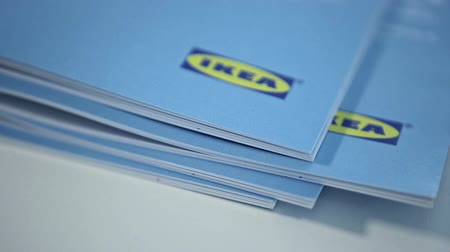 sucessful : Moscow, Russia - June 1, 2017: IKEA Catalog 2017 in Moscow, Russia. Ikea is the worlds largest furniture retailer, founded in Sweden.