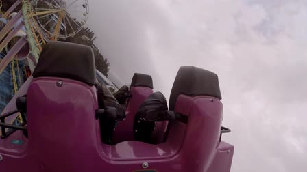 aventura : Hong Kong, China - March 15,2017 : Riding a crazy roller coaster in Ocean Park in Hong Kong