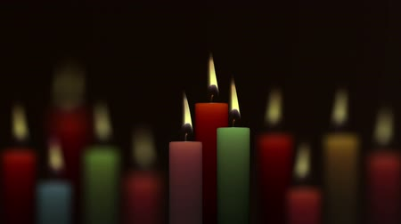 простота : Burning candle over defocused background