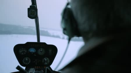 heliport : The control panel of the helicopter. Stock Footage