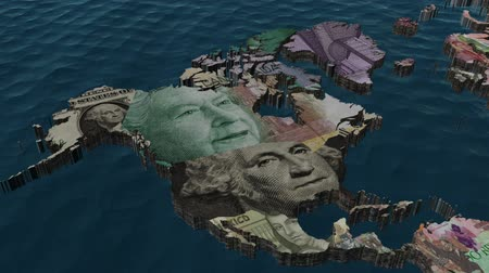 prezident : America Financial World with Currencies as Countries with Clouds Dostupné videozáznamy